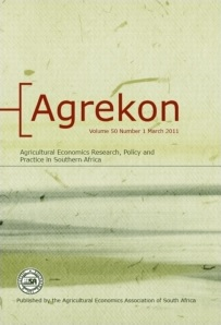 Agrekon: Agricultural Economics Research, Policy and Practice in Southern Africa