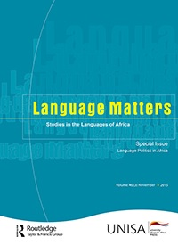Language Matters: Studies in the Languages of Africa