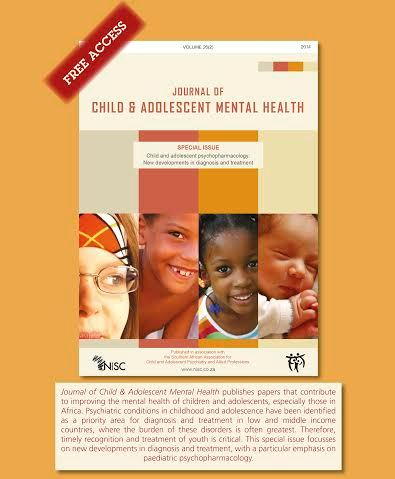 Special Issue of Jrnl of Child & Adolescent Mental Health at IACAPAP