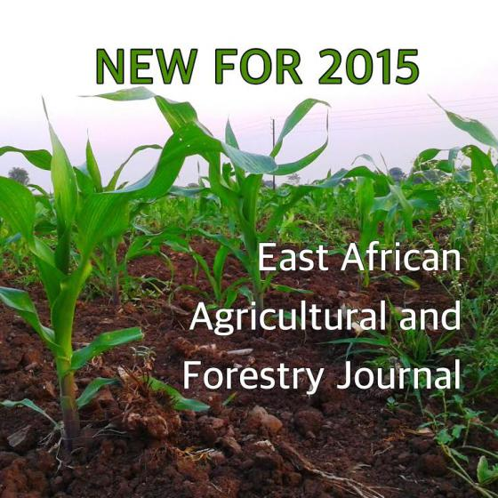 East African Agricultural and Forestry Journal - NEW TO NISC