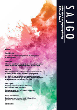 Southern African Journal of Gynaecological Oncology