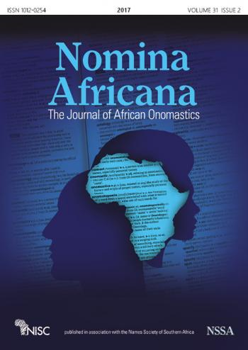 Nomina Africana: The Journal of African Onomastics