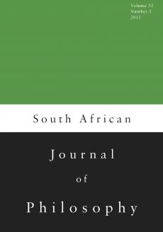 South African Journal of Philosophy