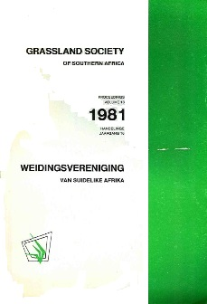 Proceedings of the Annual Congresses of the Grassland Society of Southern Africa