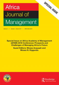 Special Issue: Entrepreneurship in Africa